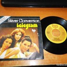 Discos de vinilo: SILVER CONVENTION TELEGRAM EUROVISION ALEMANIA 1977 SINGLE VINILO 1977 ESPAÑA 2 TEMAS. Lote 205829341