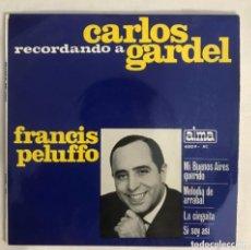 Discos de vinilo: FRANCIS PELUFFO RECORDANDO A CARLOS GARDEL. Lote 205830353