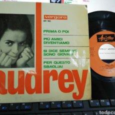 Discos de vinilo: AUDREY EP PRIMA O POI + 3 ESPAÑA 1965. Lote 205831097
