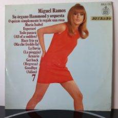 Discos de vinilo: MIGUEL RAMOS, SU ORGANO Y ORQUESTA. HHS 11-174. HISPAVOX ESPAÑA. 1969.. Lote 205835372