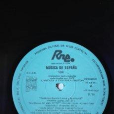 Discos de vinilo: MÚSICA DE ESPAÑA. TRANSCRIPCIONES DE RNE. 104. FEDERICO GARCÍA LORCA Y LA MÚSICA. 50ANIV.PACO IBÁÑEZ. Lote 205838118