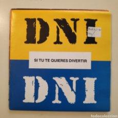 Discos de vinilo: NT DNI - SI TU TE QUIERES DIVERTIR 1990 HIP HOP SPAIN SINGLE VINILO. Lote 205839007