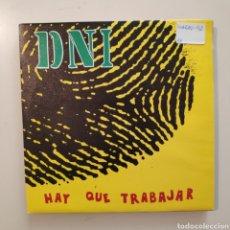 Discos de vinilo: NT DNI - HAY QUE TRABAJAR 1992 HIP HOP PROMO PROMOCIONAL SINGLE VINILO SPAIN. Lote 205840822