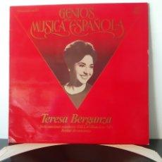 Discos de vinilo: GENIOS DE LA MUSICA ESPAÑOLA. TERESA BERGANZA. 1982. ESPAÑA. Lote 205844077