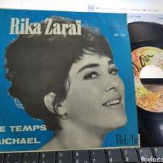 Discos de vinilo: RIKA ZARAI SINGLE PROMOCIONAL LE TEMPS ESPAÑA 1965 RAREZA. Lote 205844221
