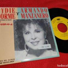 Discos de vinilo: EYDIE GORME & ARMANDO MANZANERO SOMOS 7'' SINGLE 1992 EPIC PROMO UNA CARA SPAIN ESPAÑA. Lote 205846048