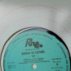 Discos de vinilo: MÚSICA ESPAÑOLA. RNE TRANSCRIPCIONES. PERVIVENCIA DEL PASADO. 43. MONTSALVATGE. RODRIGO. Lote 205847713