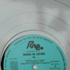 Discos de vinilo: MÚSICA DE ESPAÑA. RNE TRANSCRIPCIONES. RITMOS EXTRANJEROS EN LA MÚSICA ESPAÑOLA. 40.. Lote 205848191