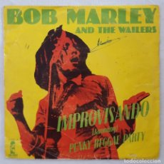 Discos de vinilo: SINGLE / BOB MARLEY AND THE WAILERS / IMPROVISANDO (JAMMING) - PUNKY REGGAE PARTY / ISLAND 1977. Lote 205851037