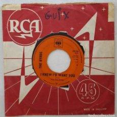 Discos de vinilo: SINGLE / THE BYRDS / MR. TAMBOURINE MAN - I KNEW I'D WANT YOU / CBS 1965 INGLATERRA. Lote 205851317