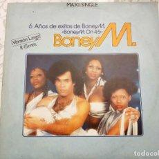 """Discos de vinilo: BONEY M. - 6 AÑOS DE ÉXITOS DE BONEY M.«BONEY M. ON 45»(12"""")1982. ARIOLA.F-600 539.VINILO COMO NUEVO. Lote 205851375"""