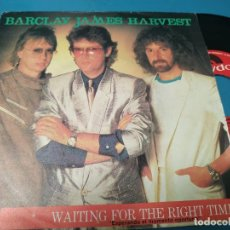 Discos de vinilo: BARCLAY JAMES HARVEST - WAITING FOR THE RIGHT TIME + BLOW ME DOWN SINGLE VINILO 1983. Lote 205852617