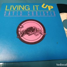 Discos de vinilo: DAVID CHRISTIE ( LIVING IT UP ) + INSTRUMENTAL 1988. Lote 205853117
