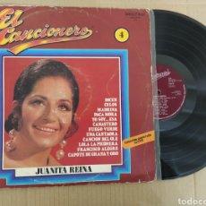 Discos de vinilo: RML REF:R400R DISCO VINILO GRANDE - JUANITA REINA - EL CANCIONERO N° 4. Lote 205856222