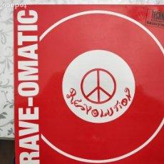 """Discos de vinilo: RAVE-OMATIC - REVOLUTION (12"""") 1992. BLANCO Y NEGRO MX 348. COMO NUEVO. Lote 205856275"""
