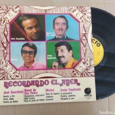 Discos de vinilo: RML REF:R400R DISCO VINILO GRANDE - RECORDANDO EL AYER. Lote 205857611