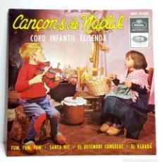 Discos de vinilo: CANÇONS DE NADAL *** CORO INFANTIL ELISENDA *** FUM,FUM, FUM *** SANTA NIT ** EL DESEMBRE CONGELAT. Lote 205859872