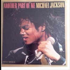 "Discos de vinilo: MAXI SINGLE 12"" DE BAD, ANOTHER PART OF ME DE MICHAEL JACKSON. 1987.ESPAÑOL.LAS 2 CARAS SON REMIXES. Lote 205860767"