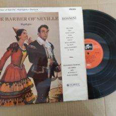 Discos de vinilo: RML REF:R400R DISCO VINILO GRANDE - THE BARBER OF SEVILLE. Lote 205862468
