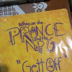Discos de vinilo: PRINCE. GETT OFF. MAXI SINGLE. Lote 205862505