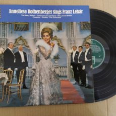 Discos de vinilo: RML REF:R400R DISCO VINILO GRANDE - ANNELIESE ROTHENBERGER SINGS FRANZ LEHAR. Lote 205862875
