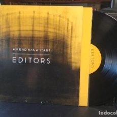 Discos de vinilo: EDITORS AN END HAS A START LP GERMANY 2007 PEPETO TOP. Lote 205863870