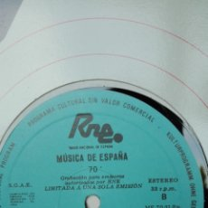 Discos de vinilo: MÚSICA DE ESPAÑA. TRANSCRIPCIONES RNE.N70. 2 COMP. FALLECIDOS EN 1984. MANUEL VALLS Y ÁNGEL ARTEAGA. Lote 205866057
