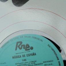 Discos de vinilo: MÚSICA DE ESPAÑA. TRANSCRIPCIONES RNE. NÚMERO 146. ESTRENOS DE LA TEMPORADA 1987-88. Lote 205866348