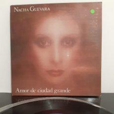 Discos de vinilo: EX/EX. NACHA GUEVARA. AMOR DE CIUDAD GRANDE. HISPAVOX. 1977. ESPAÑA. Lote 205866372
