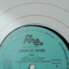 Discos de vinilo: MÚSICA DE ESPAÑA. TRANSCRIPCIONES RNE. NÚMERO 144. ESTRENOS DE LA TEMPORADA87-88 AUTORES CONSAGRA. Lote 205866453