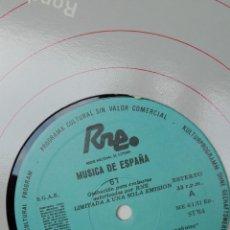 Discos de vinilo: MÚSICA DE ESPAÑA. TRANSCRIPCIONES RNE. NÚMERO 67 MÚSICA DE MONASTERIOS Y CATEDRALES DE ESPAÑA. Lote 205866617