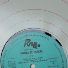 Discos de vinilo: MÚSICA DE ESPAÑA. TRANSCRIPCIONES RNE. NÚMERO 72. EL III CENTENARIO DE DOMENICO SCARIATTI.. Lote 205867256