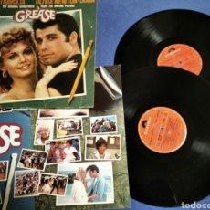 Discos de vinilo: VINILO GREASE DOBLE DISCO. Lote 205872541