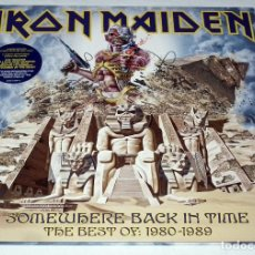 Discos de vinilo: LP IRON MAIDEN - SOMEWHERE BACK IN TIME. Lote 205900048