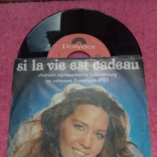 Discos de vinilo: SINGLE CORINNE HERMES - SI LA VIE EST CADEAU - PORTUGAL PRESS (VG++/NM) EUROVISION 1983. Lote 206124871
