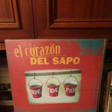 Discos de vinilo: EL CORAZÓN DEL SAPO / FUEGO AL CIELO DE LOS CUERVOS / FILFERRO RECORDS 2018. Lote 206134170