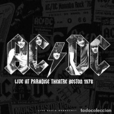Discos de vinilo: AC/DC LIVE AT PARADISE THEATRE BOSTON 1978 LP . BON SCOTT ANGUS MALCOM YOUNG. Lote 206136785