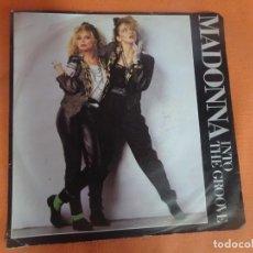 Discos de vinilo: SINGLE , MADONNA, INTO THE GROOVE , VER FOTOS. Lote 206138932