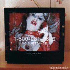 Discos de vinilo: BAD RELIGION NO SUBSTANCE LP . PUNK ROCK HARDCORE PENNYWISE EPITAPH MISFITS. Lote 206139025