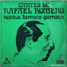 Discos de vinilo: RAFAEL ROMERO, CANTES// TIENTOS+2// EP// 1971// ARIOLA. Lote 206139385