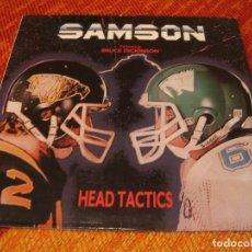 Discos de vinilo: SAMSON LP HEAD TACTICS BRUCE DICKINSON IRON MAIDEN ORIGINAL ESPAÑA 1986. Lote 206139921