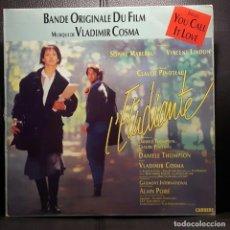 Discos de vinilo: SOPHIE MARCEAU - VLADIMIR COSMA - L'ETUDIANTE - LP - COREA- BANDA SONORA ORIGINAL - 1988 -NO CORREOS. Lote 206143713