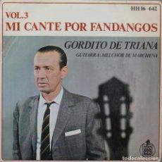 Discos de vinilo: GORDITO DE TRIANA// YO VI UNA LOCA EN EL PATIO+3// EP// 1968// HISPAVOX. Lote 206147141