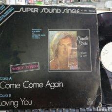 Discos de vinilo: CAMILO SESTO MAXI PROMOCIONAL COME COME AGAIN / LOVING YOU 1979 ESCUCHADO. Lote 206147150
