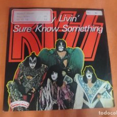 Discos de vinilo: SINGLE , KISS - DIRTY LIVIN' / SURE KNOW SOMETHING- , VER FOTOS. Lote 206150917