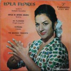 Discos de vinilo: LOLA FLORES// COPLAS DE ANTONIO ORDOÑEZ+3// EP// 1962. Lote 206157288