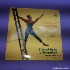 Discos de vinilo: SINGLE ROCIO DURCAL CANTA - CANCIÓN DE JUVENTUD VG++. Lote 206160525