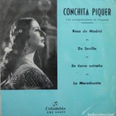 Discos de vinilo: CONCHITA PIQUER// ROSA DE MADRID+3// EP// 1966// COLUMBIA. Lote 206162551