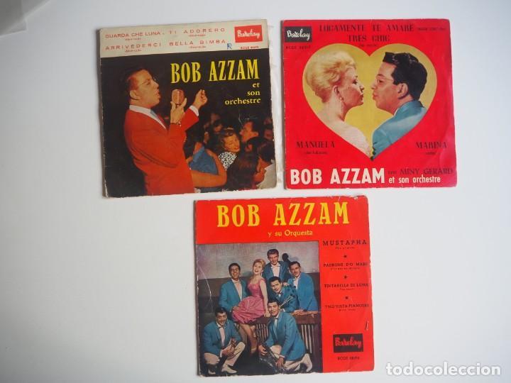 BOB AZZAM LOTE DE 3 EPS EDITADOS EN ESPAÑA DE LA CASA BARCLAY (Música - Discos de Vinilo - EPs - Canción Francesa e Italiana)