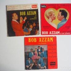 Discos de vinilo: BOB AZZAM LOTE DE 3 EPS EDITADOS EN ESPAÑA DE LA CASA BARCLAY. Lote 206170068